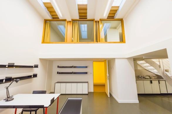 Interieur Collège néerlandais, Parijs ©Antoine Meyssonnier