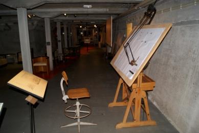 Een van de tekentafels van de dienst Publieke Werken, waar Dudok aanvankelijk directeur van was.
