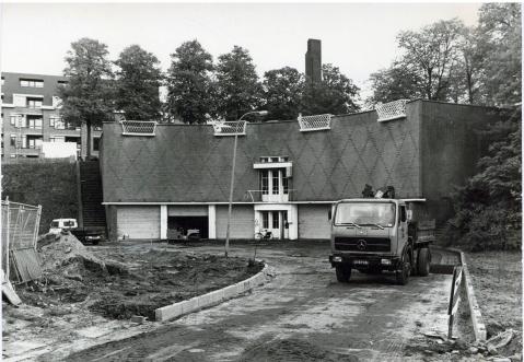 SAGV236.1+4341 Zand- en Zoutbunker (architect W.M. Dudok) bij de Oude Haven 1978 Hilversum SAGV236.1 Persfotocollectie van de redactie van De Gooi- en Eemlander