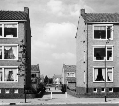 Jacob van Campenlaan, Hilversum. Onderdeel van het 25e woningbouwcomplex. Foto: archief www.gooienvechthistorisch.nl.