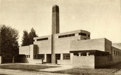 Badhuis, Bosdrift Hilversum. 1921. Foto: archief www.gooienvechthistorisch.nl