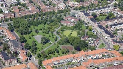 Kooipark, Leiden. Stadspark uit 1920. Situatie voor de renovatie van 192014