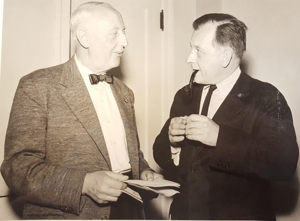 Architecten Willem Dudok en Eero Saarinen