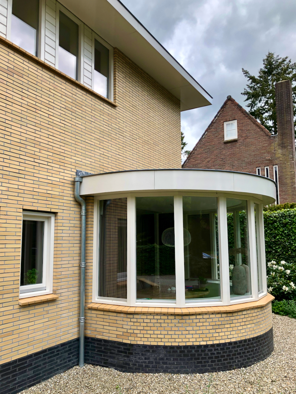 modern villa next to house of architect Willem Dudok, Utrecht, Netherlands.